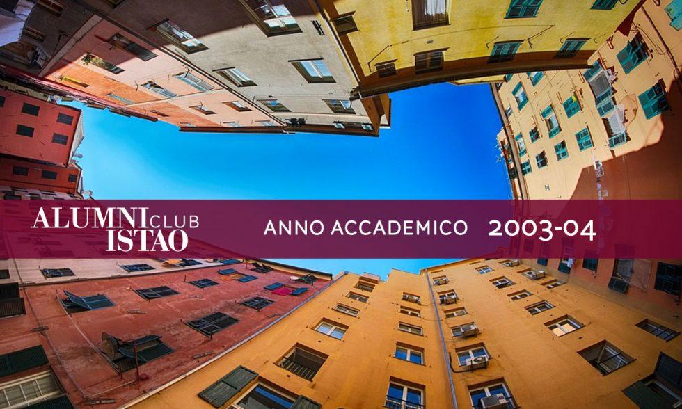 Alumni ISTAO nell'anno accademico 2003-04