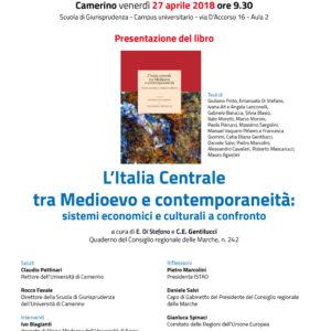 """Presentazione del libro """"L'Italia Centrale tra Medioevo e contemporaneità"""""""