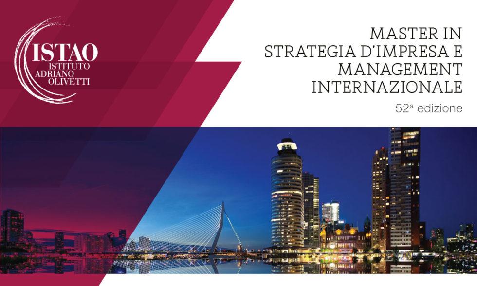 Master in Strategia d'impresa e management internazionale