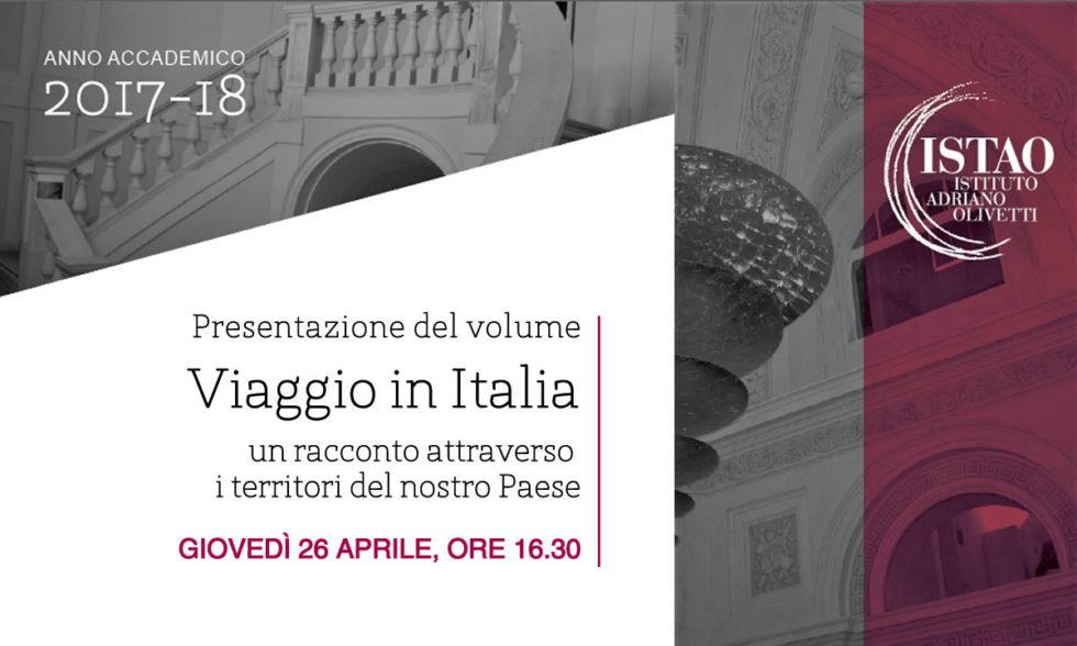 """Presentazione del volume """"Viaggio In Italia"""""""