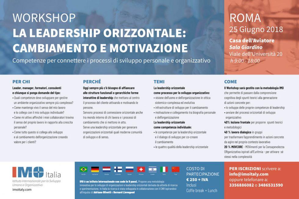 Workshop – La leadership orizzontale: cambiamento e motivazione