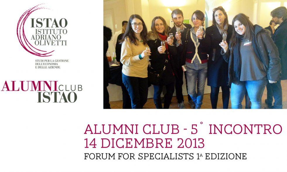 Forum for Specialists – 1^ edizione