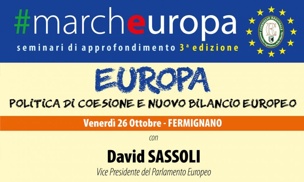 #Marcheuropa – venerdì 26 ottobre