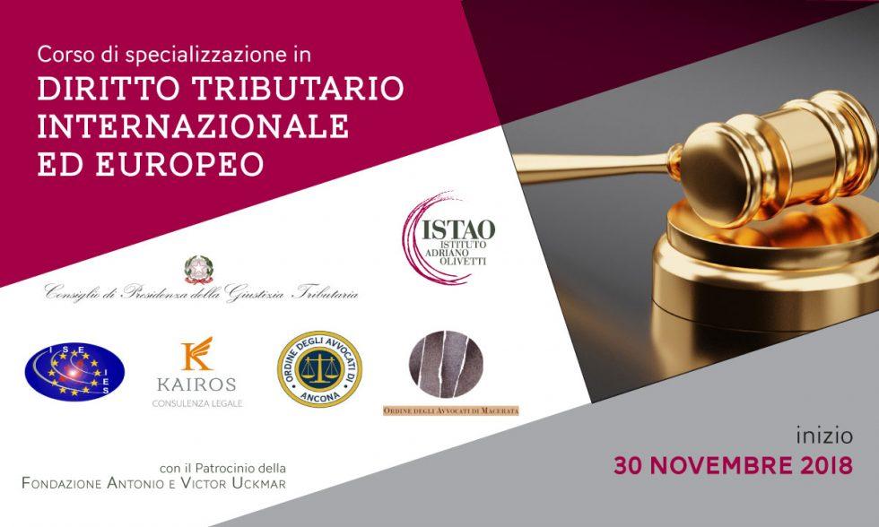 Corso di specializzazione in Diritto Tributario internazionale ed europeo