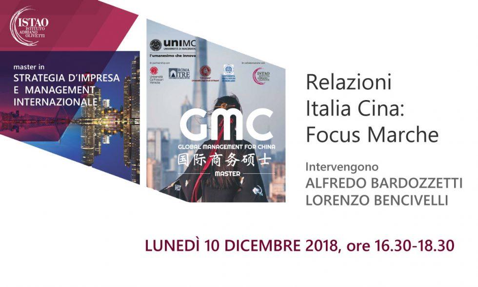 Relazioni Italia Cina: Focus Marche