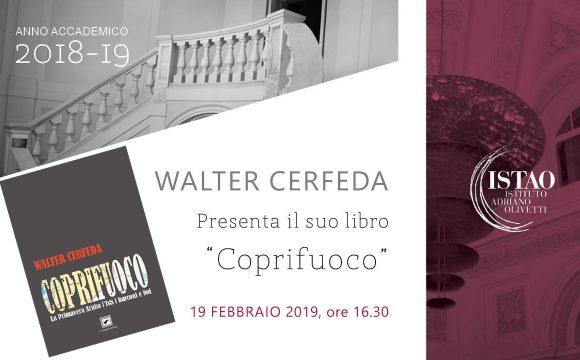 """Walter Cerfeda presenta il suo libro """"Coprifuoco"""""""