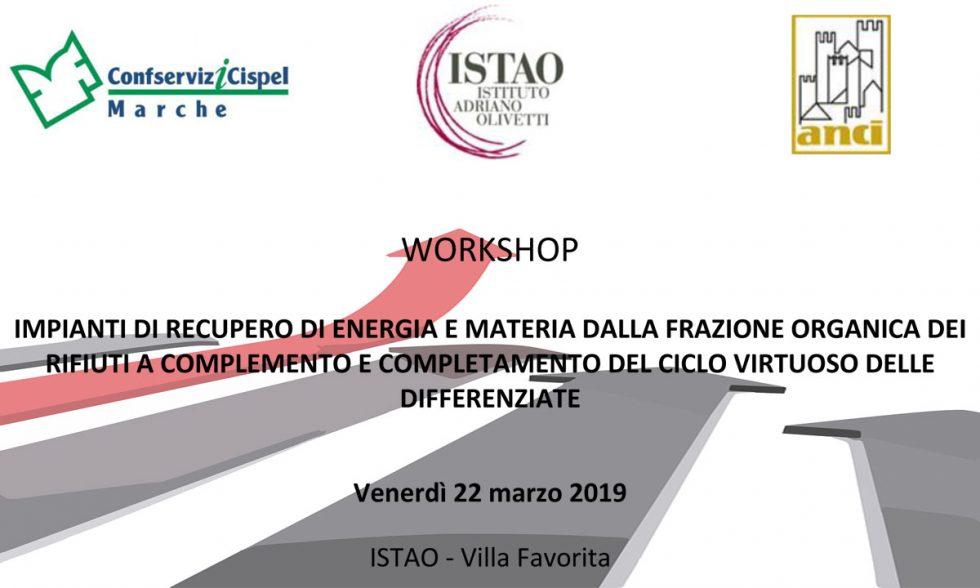 "Workshop ""Impianti di recupero di energia e materia"""