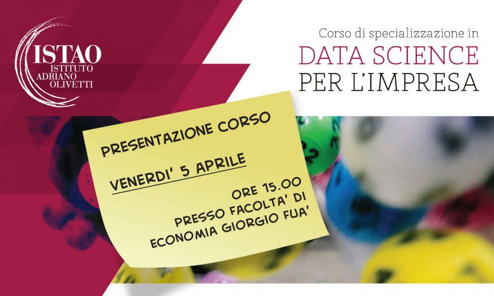 Presentazione corso Data Science