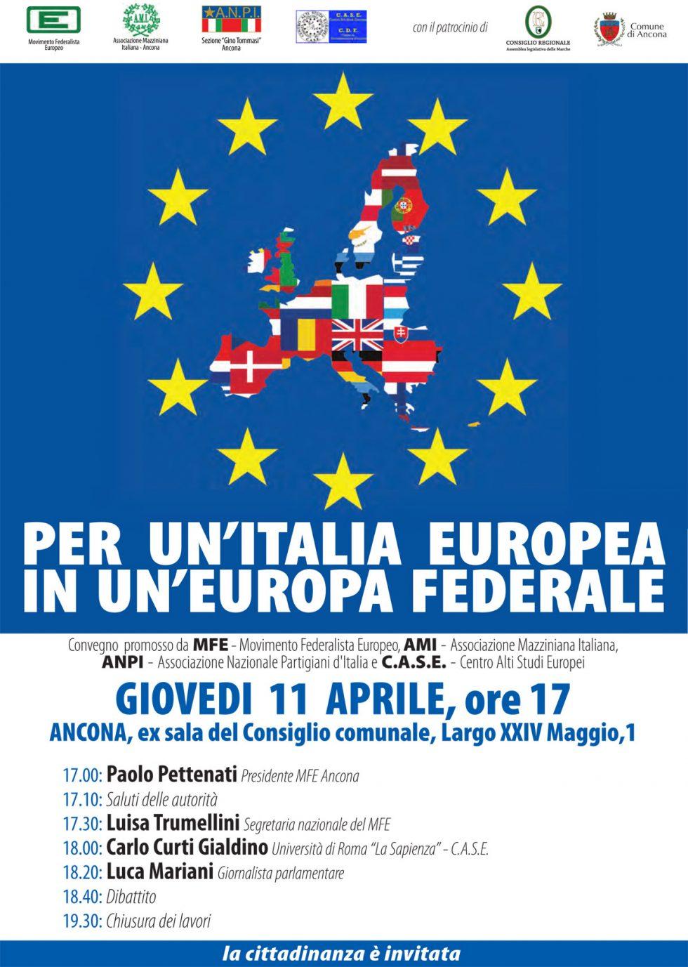 Per un'Italia europea in un'Europa federale