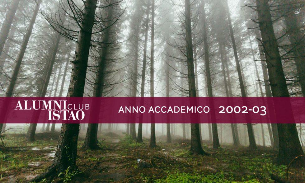 Alumni ISTAO nell'anno accademico 2002-03