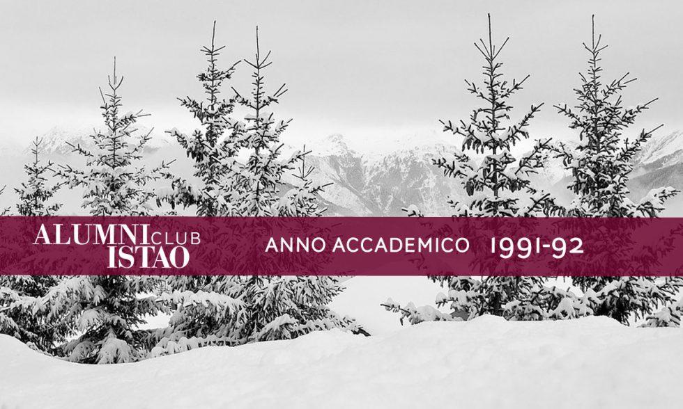 Alumni ISTAO nell'anno accademico 1991-92