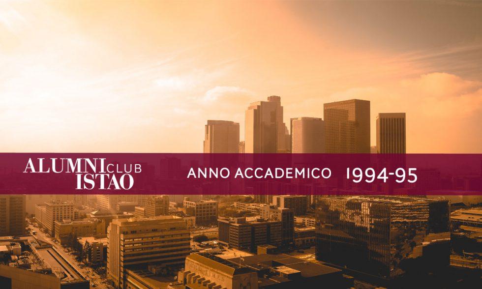 Alumni ISTAO nell'anno accademico 1994-95