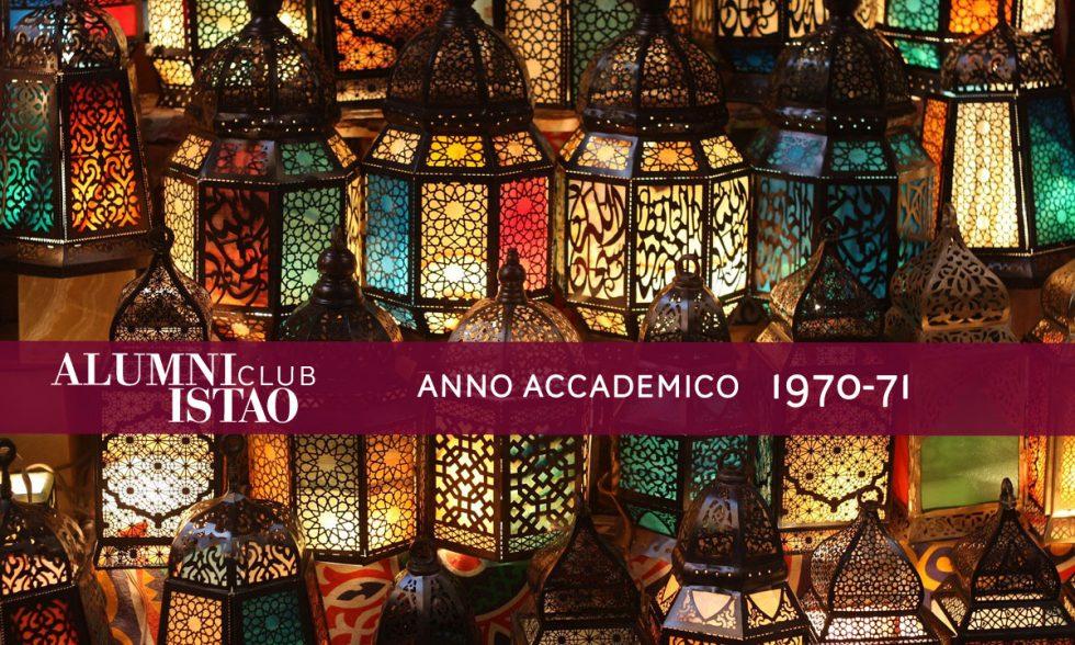 Alumni ISTAO nell'anno accademico 1970-71
