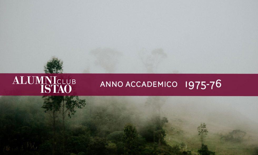 Alumni ISTAO nell'anno accademico 1975-76