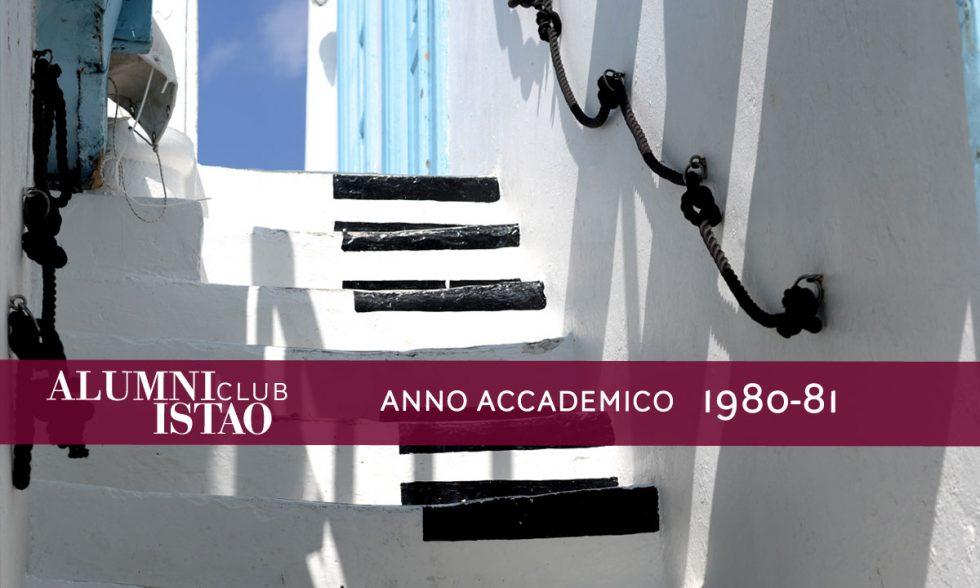 Alumni ISTAO nell'anno accademico 1980-81