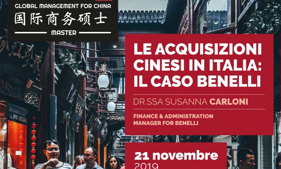 Le acquisizioni cinesi in Italia: il caso Benelli