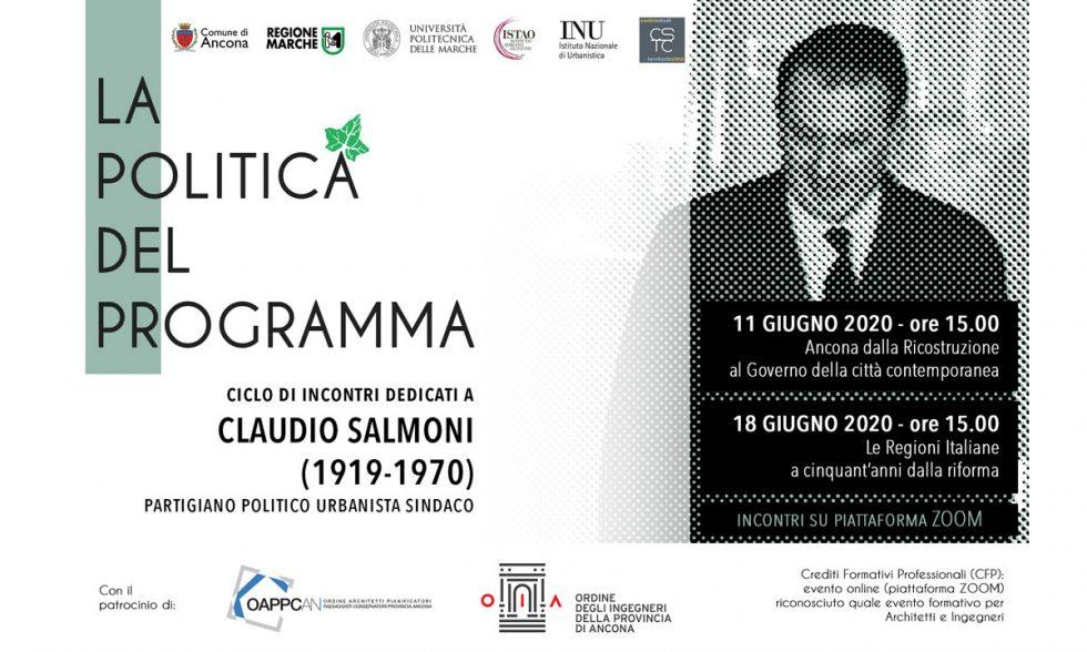 """La politica del programma"" due webinar dedicati a Claudio Salmoni"