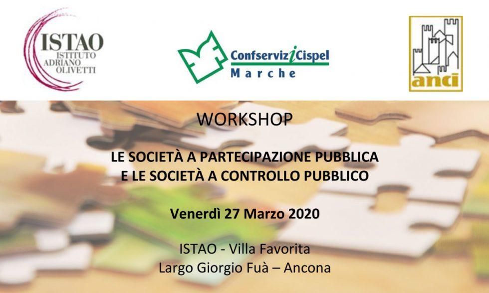 """Workshop """" Le società a partecipazione pubblica e le società a controllo pubblico"""""""