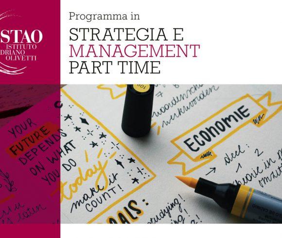 "Programma in ""Strategia e management part time"""