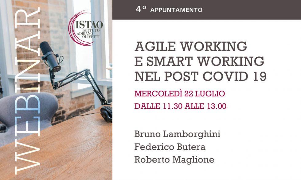 Webinar ISTAO: Agile Working  e Smart working  nel post COVID 19