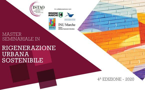 """Master Seminariale """"Rigenerazione urbana sostenibile"""" 4a edizione"""