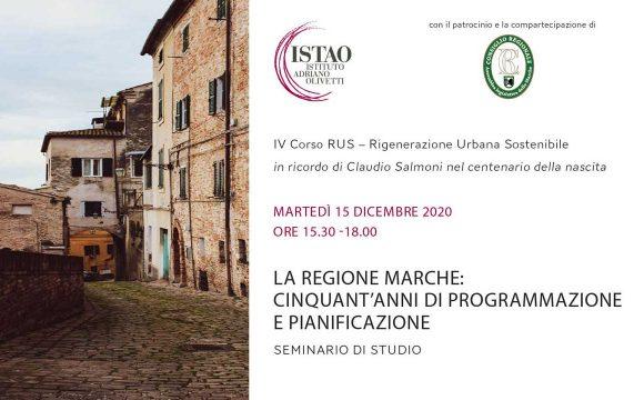 La Regione  Marche: cinquant'anni di  programmazione e pianificazione