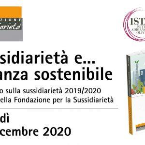 """Presentazione della ricerca """"Sussidiarietà e… finanza sostenibile"""""""